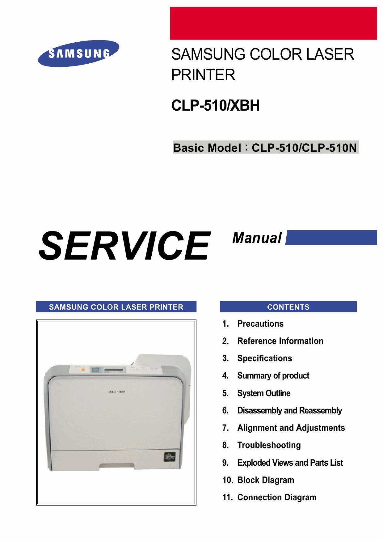 Samsung Color Laser Printer Clp